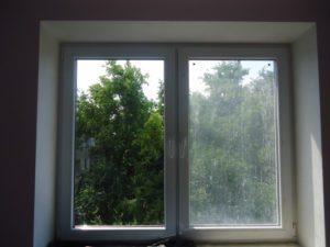 помытое окно