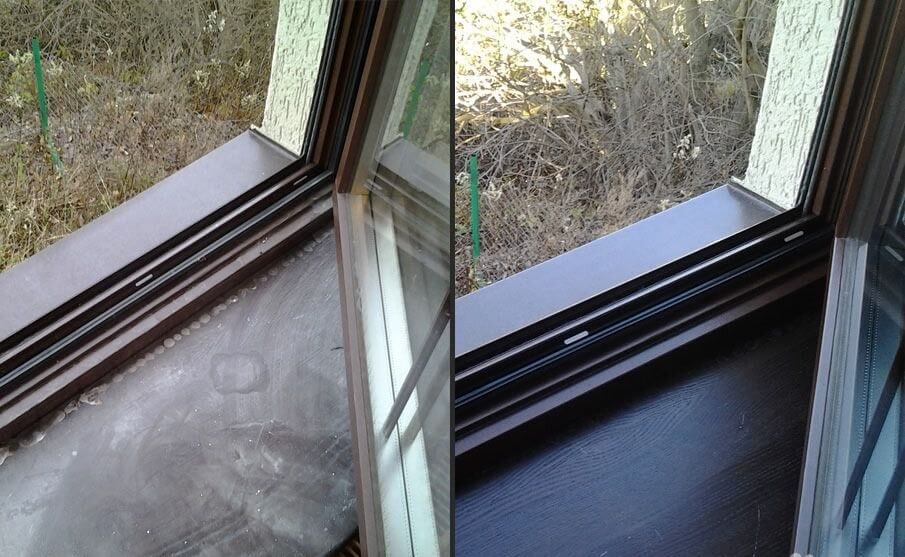 мытье окна после от строительной пыли