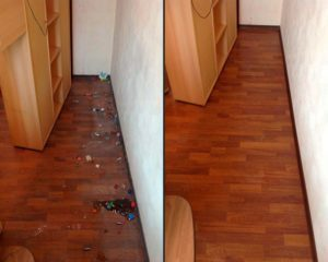 генеральная уборка за шкафом