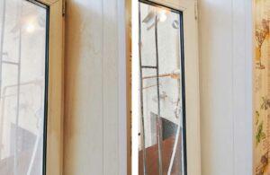 Уборка строительной пыли на окнах