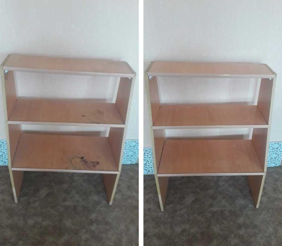 Влажная уборка мебели