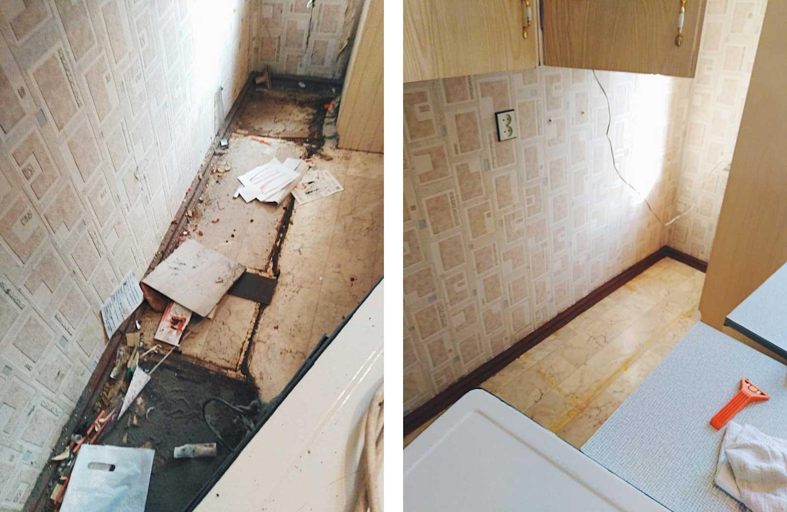 Уборка перед ремонтом в очень грязной квартире