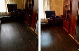 Уборка строительной пыли в комнате после ремонта