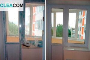 Мойка балконной двери и окна