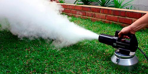 Устранение запахов сухим туманом