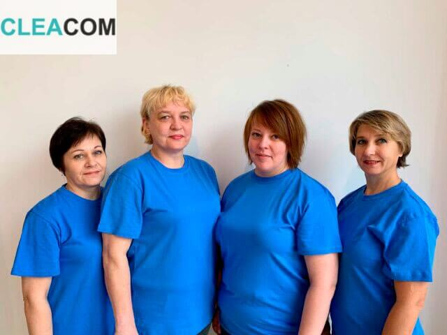 Сотрудники клининговой компании