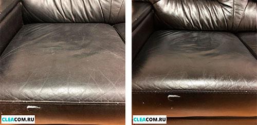 Химчистка кожаного дивана