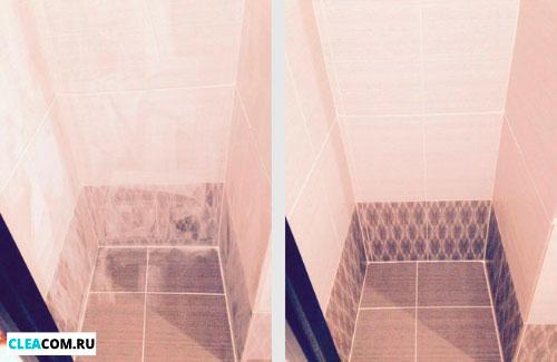 Мытье плитки после ремонта