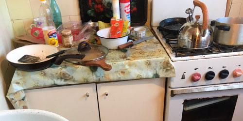 Уборка грязных квартир